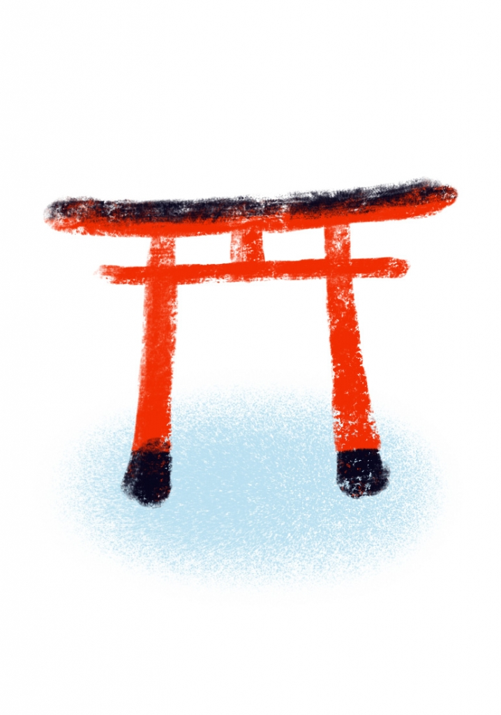 illustration of a Japanese torii