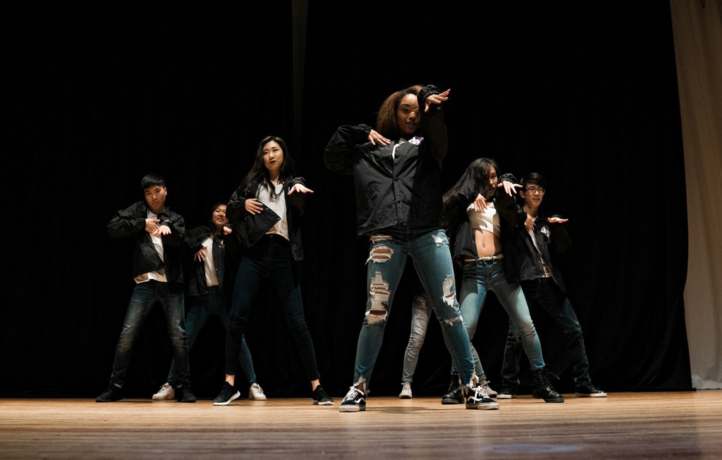 Kaleigh on stage with her K-Project dance group