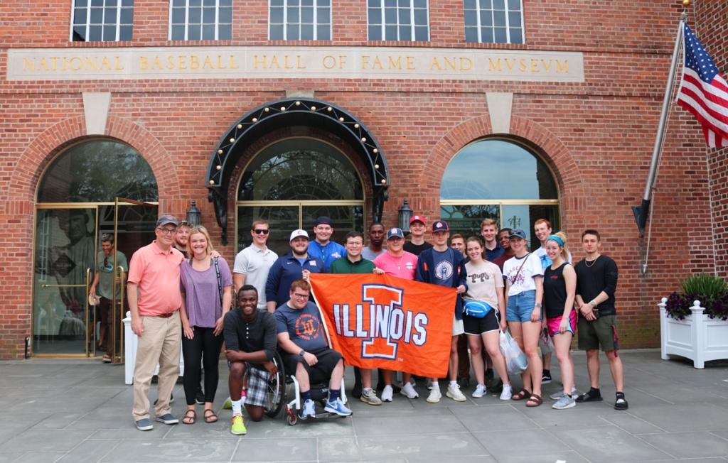 RST posing at Baseball Hall of Fame
