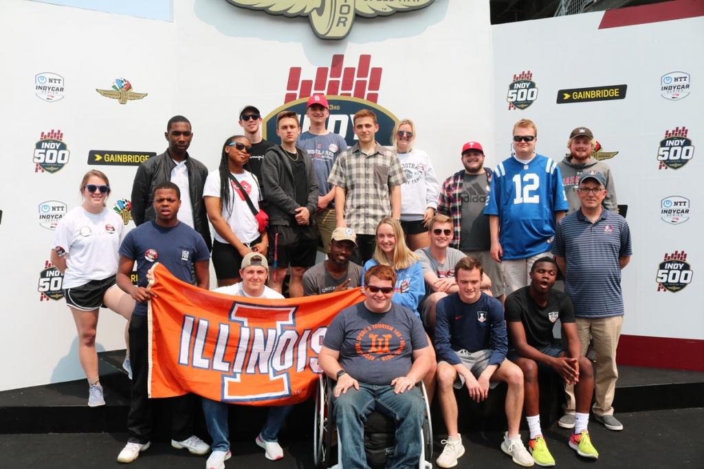 RST posing at Indianapolis Motor Speedway