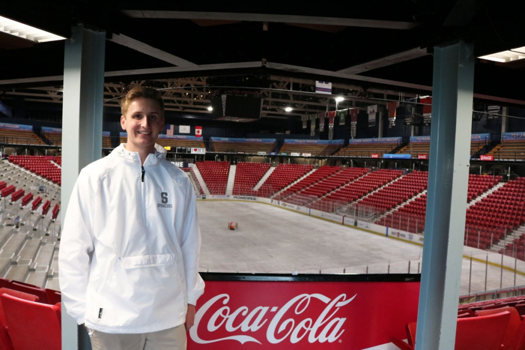 RST student at Lake Placid ice rink
