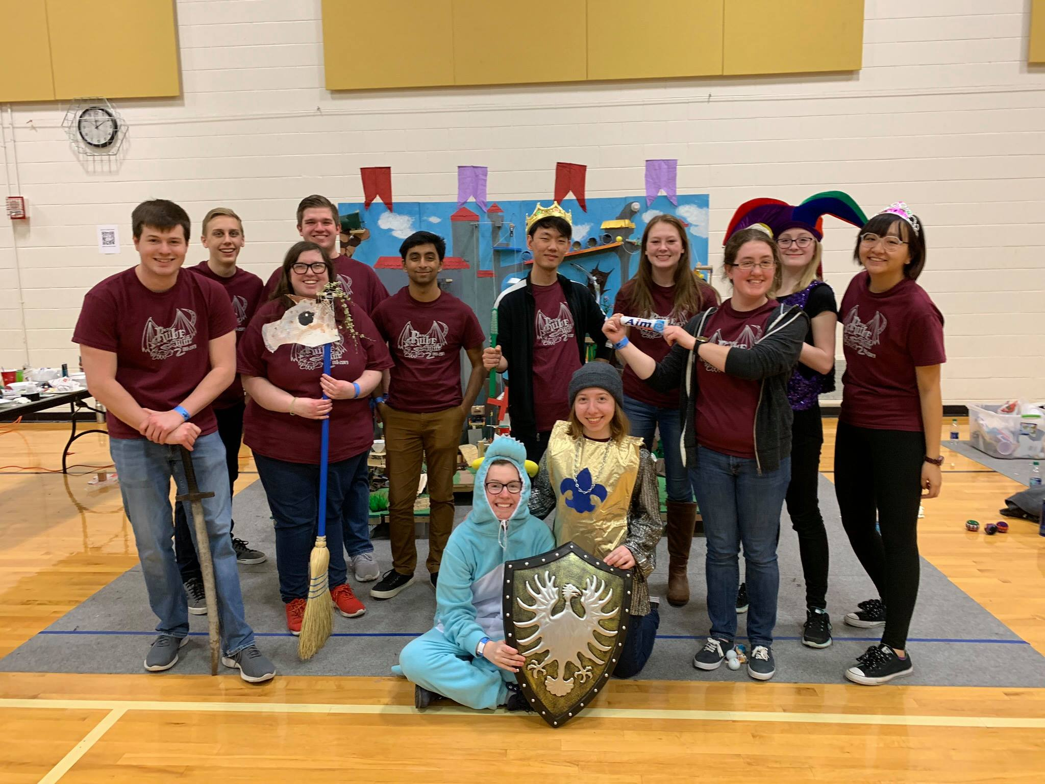Rube Goldberg Society with their medieval-themed machine