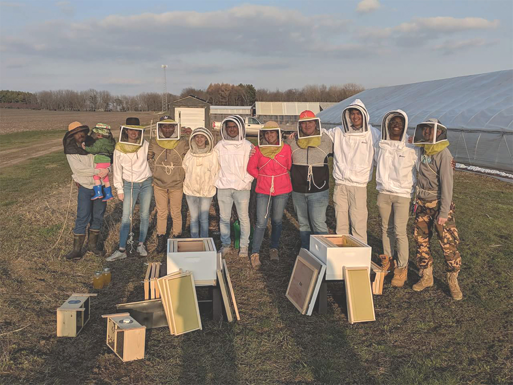Group photo of the Beekeeping Club.