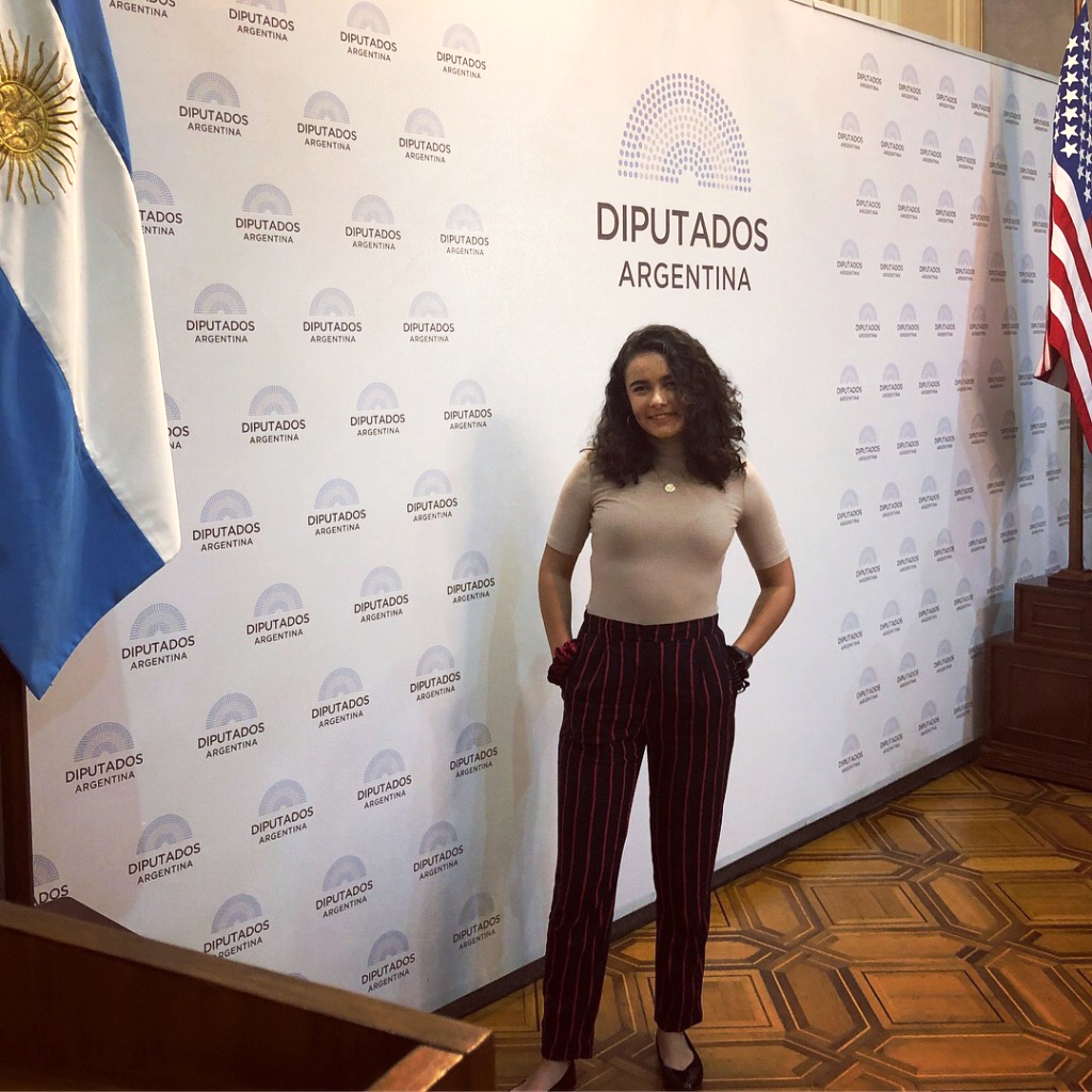 Savannah visits The Chamber of Deputies, the lower house of the Argentine National Congress